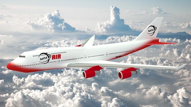 bíločervené letadlo