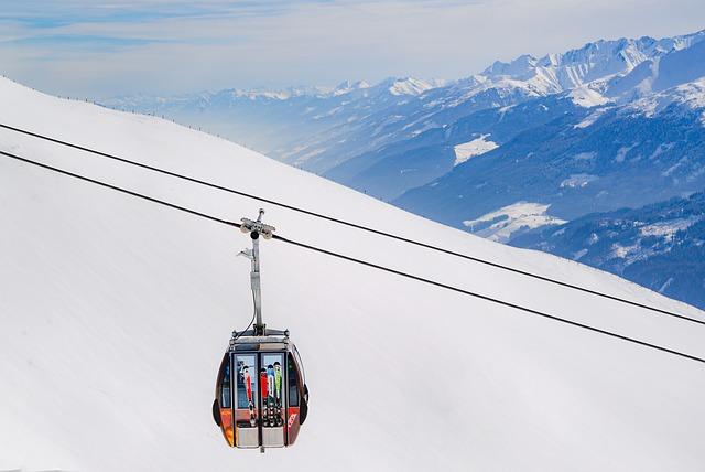 lanovka pro lyžaře