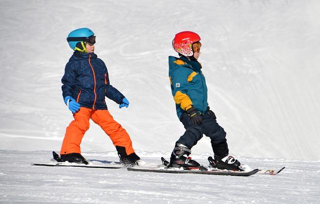 sjezdové lyžování dětí