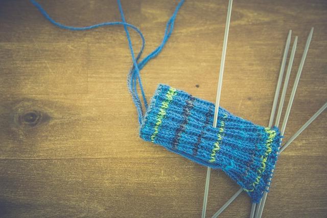 pletení ponožek