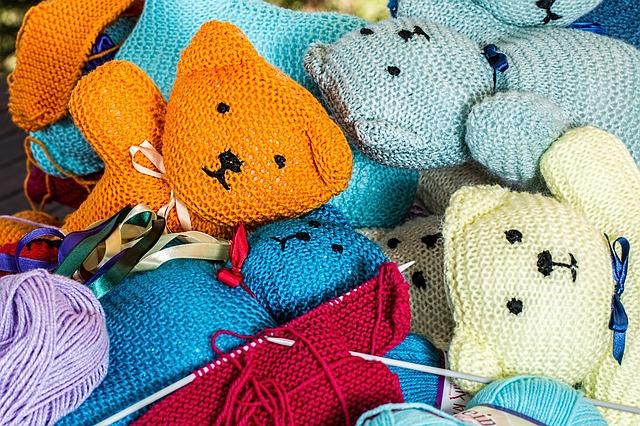pletení medvídci
