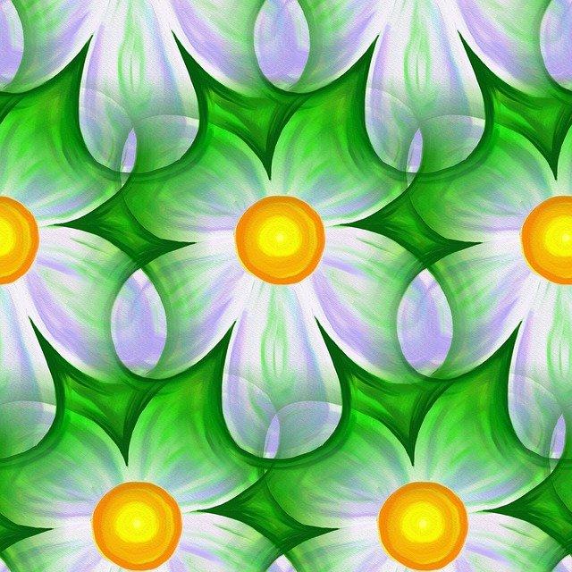 květiny, zelenobílé
