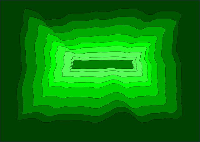 zelené barvy