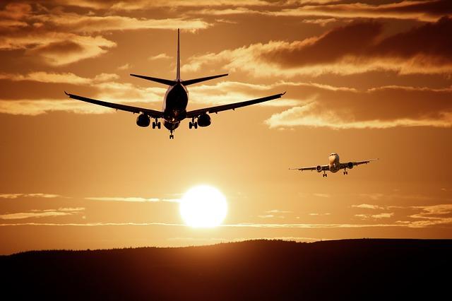 slunce a letadla