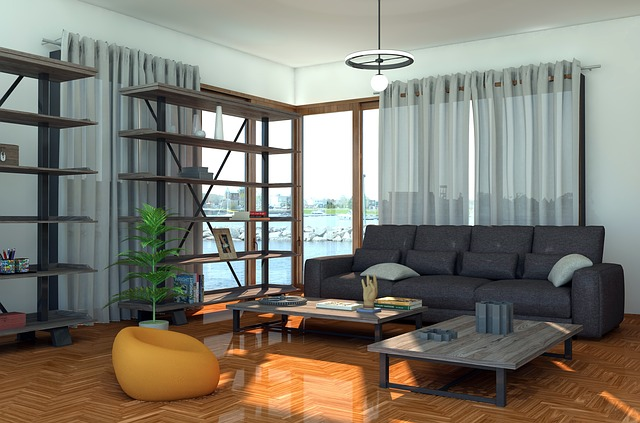 Moderně pojatý obývací pokoj